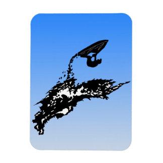 Jet ski big jump on a wave rectangular photo magnet