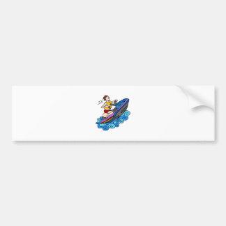Jet Ski Cartoon Vector Bumper Sticker