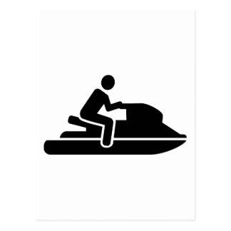 Jet ski driver postcard