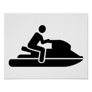 Jet ski driver poster