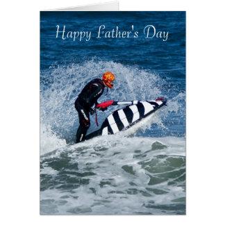 Jet Ski Father's Day Greeting Card