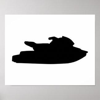 Jet ski jetskiing poster