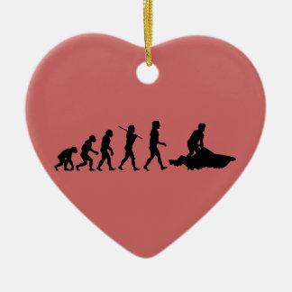 Jet Ski Jetskiing Water Sport Double-Sided Heart Ceramic Christmas Ornament