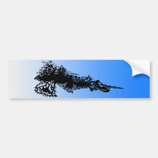 Jet ski on wave bumper sticker