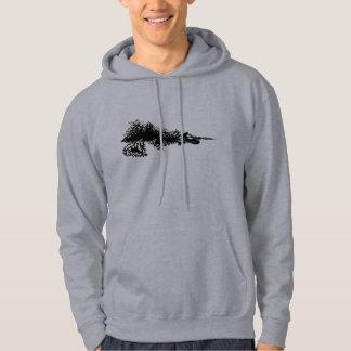 Jet ski on wave hoodie