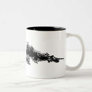 Jet ski on wave Two-Tone coffee mug