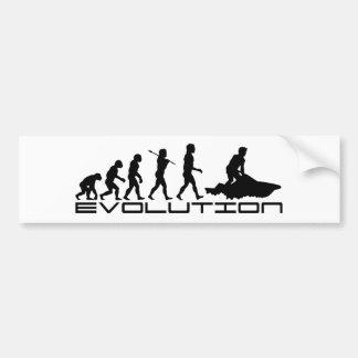 Jet Ski Skiing Water Sport Evolution Art Bumper Sticker