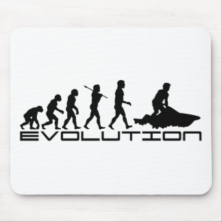 Jet Ski Skiing Water Sport Evolution Art Mouse Pad