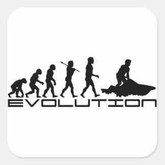 Jet Ski Skiing Water Sport Evolution Art Square Sticker