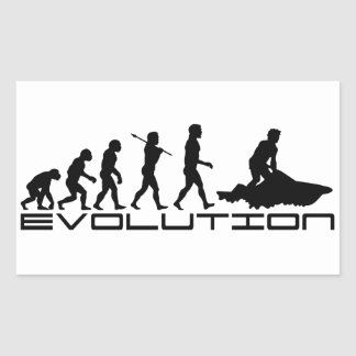Jet Ski Skiing Water Sport Evolution Art Rectangular Stickers