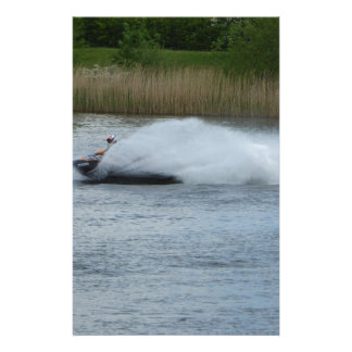 Jet Skier on Lake Stationery