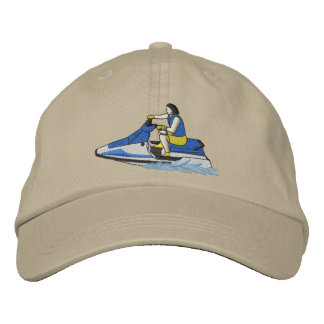 Jet Skier (sitting) Embroidered Hat