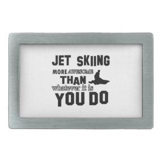 Jet Skiing awesome designs Rectangular Belt Buckles