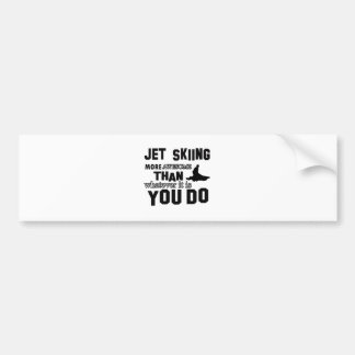 Jet Skiing awesome designs Bumper Sticker