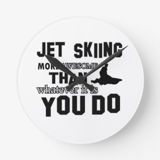 Jet Skiing awesome designs Round Wall Clocks