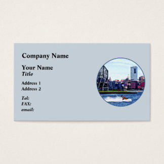 Jet Skiing by Colgate Clock Business Card
