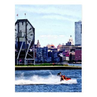 Jet Skiing by Colgate Clock Postcard