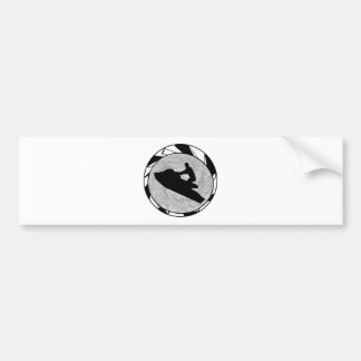 JET SKIING SOUNDER BUMPER STICKERS
