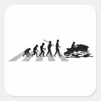 Jet Skiing Square Sticker