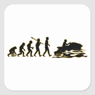 Jet Skiing Square Stickers