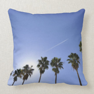 Jet Stream Over Palm trees Pillows