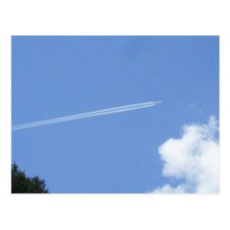 Jet Streaming against a Blue Sky Postcard