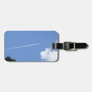 Jet Streaming into a Blue Sky Bag Tag