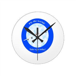 Jet Travel Round Clock