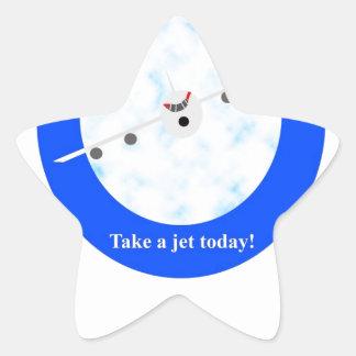 Jet Travel Sticker