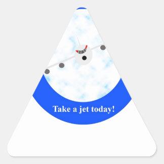 Jet Travel Triangle Sticker