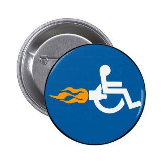 Jet Wheelchair 2 Inch Round Button