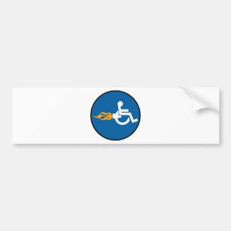 Jet Wheelchair Bumper Sticker