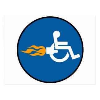Jet Wheelchair Postcard