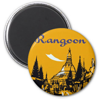 Jet Your Way to Rangoon 2 Inch Round Magnet
