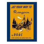 Jet Your Way to Rangoon Post Card