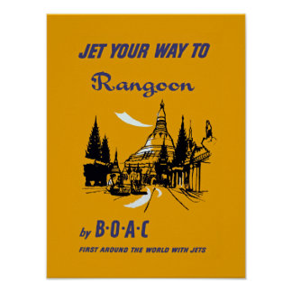 Jet Your Way to Rangoon Poster