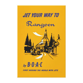 Jet Your Way to Rangoon - XL Canvas Print