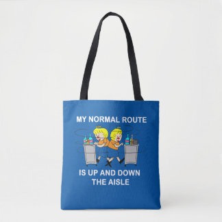Jetlagged Comic   My Normal Route Tote Bag