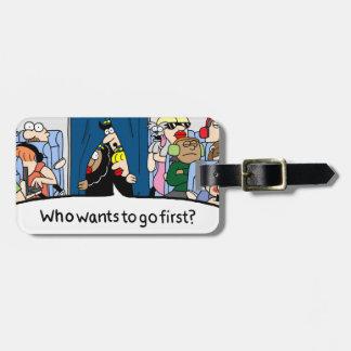 Jetlagged Comic   You Go First Luggage Tag