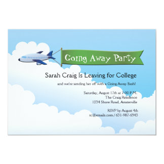 jetliner banner going away party invitation - Going Away Party Invite