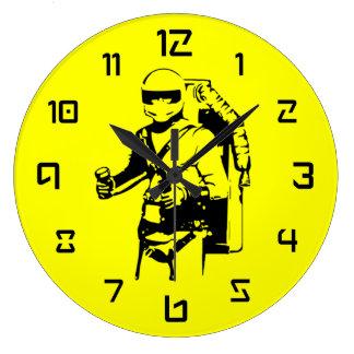 Jetpack Pilot Large Clock