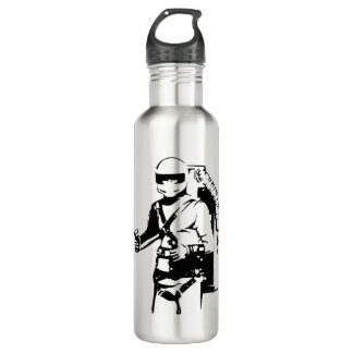 Jetpack pilot stainless steel water bottle