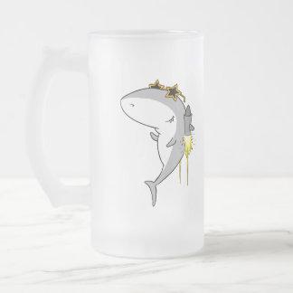 Jetpack Shark Beer Mug