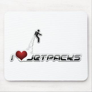 Jetpacks del corazón I Alfombrilla De Ratón
