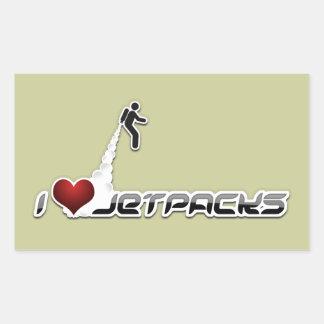 Jetpacks del corazón I Pegatina Rectangular