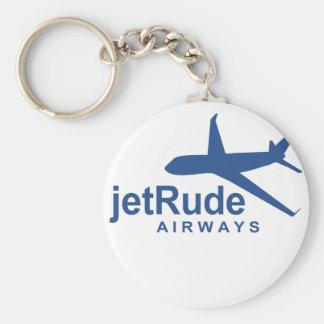 JetRude Airways Basic Round Button Keychain