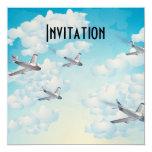 Jets 5.25x5.25 Square Paper Invitation Card