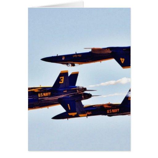 Jets de los ángeles azules en el Miramar Airshow Tarjeton