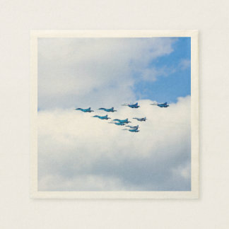 Jets Flying in Formation Paper Napkin