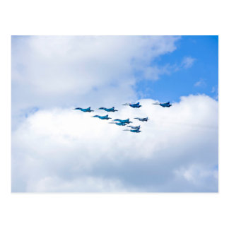 Jets Flying in Formation Postcard